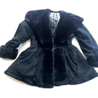 セシルマクビー(CECIL McBEE)のセシルマクビー ブラック フェイクファーコート(毛皮/ファーコート)