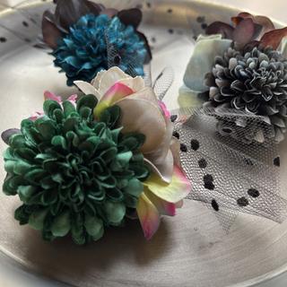 toytoy608 小さめコサージュ  【Gグリーン】髪飾り 卒業 入学 結婚式(コサージュ/ブローチ)