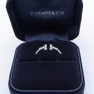 Tiffany & Co. - ティファニー Tワイヤーリング ダイヤ入りです