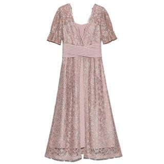 Lily Brown - 新品リリーブラウン ウエストクロスラメレースドレス