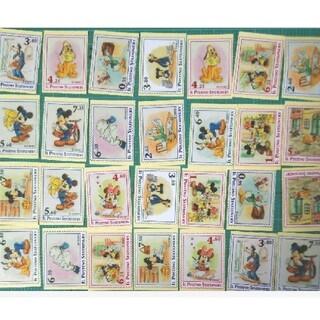 ディズニー(Disney)のディズニー  OPPテープ  切手柄フレークシール28枚(テープ/マスキングテープ)