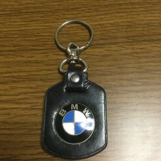 ビーエムダブリュー(BMW)の純正正規品 新品未使用 BMW キーホルダー 本革 レザー ノベルティ限定品(車外アクセサリ)