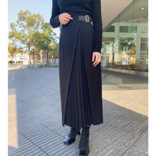 rienda - リエンダ ラッププリーツタイトスカート