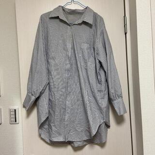 ジーユー(GU)のGUストライプオーバーサイズシャツ(シャツ/ブラウス(長袖/七分))