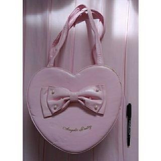 アンジェリックプリティー(Angelic Pretty)のAngelicpretty ハート型 リボン バック ピンク パール ロリィタ(ハンドバッグ)