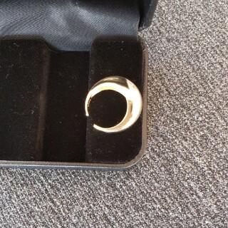 シルバー台ゴールド仕上げリンク(リング(指輪))