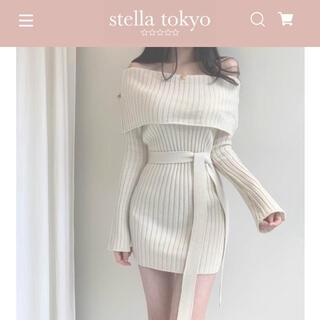 snidel - stella tokyo オフショルリブニットワンピース