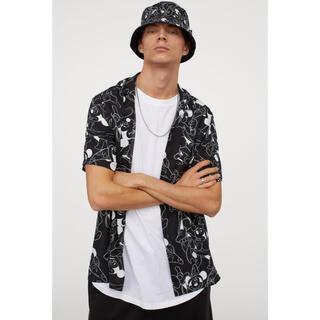 H&M - H&M XL/LL ディズニーコラボ パターンシャツ 総柄ミッキー ファンタジア