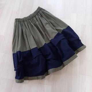 コムデギャルソン(COMME des GARCONS)のCOMME des GARCONS コムコム⭐スカート◼️カーキ(ひざ丈スカート)