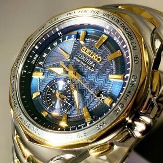 セイコー(SEIKO)の【極美品】セイコー 上級コーチュラ 電波 ソーラー SEIKO メンズ腕時計(腕時計(デジタル))