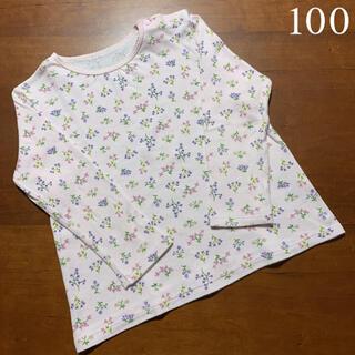 UNIQLO - UNIQLO    女の子 長袖 花柄 ロンT    100