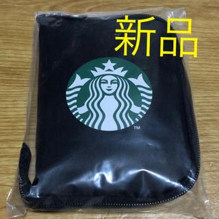 スターバックスコーヒー(Starbucks Coffee)の☆新品未開封☆スターバックスTOGOポケッタブル スタバ エコバッグ ブラック(エコバッグ)