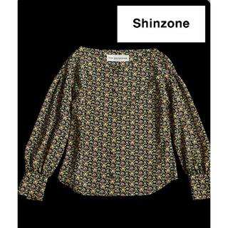 Shinzone - 美品!【Shinzone】フラワープリントブラウス 定価2.9万円