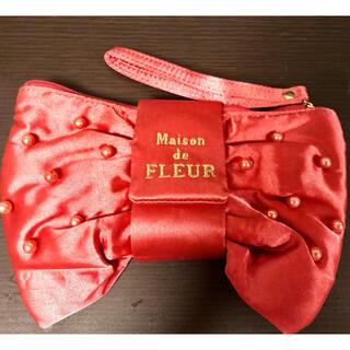 メゾンドフルール(Maison de FLEUR)のメゾンドフルール リボンポーチ レッド(ポーチ)