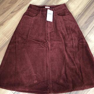 ロデオクラウンズ(RODEO CROWNS)のロデオクラウンズ 新品未使用 Sサイズ コーデュロイスカート(ひざ丈スカート)