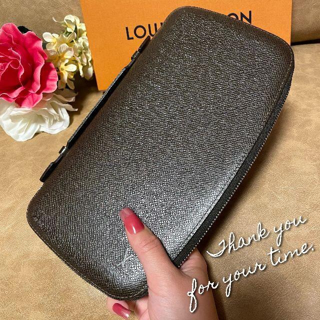 LOUIS VUITTON(ルイヴィトン)の新品未使用品同様【長財布】グリズリ トラベルケース タイガ 正規品 メンズのファッション小物(長財布)の商品写真