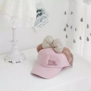 シェリーメイ(シェリーメイ)のふわふわシェリーメイの耳付き帽子☆ピンク 人気 新品 SALE中❣️(帽子)