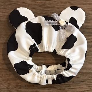 犬屋敷No.*957☆SM耳付きワンコ用スヌード(SMサイズ)牛柄☆❶(ペット服/アクセサリー)