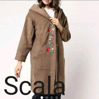 スカラー(ScoLar)のスカラー 花刺繍コート(ロングコート)