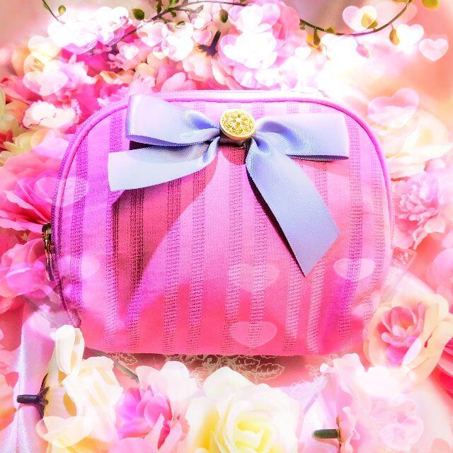 Maison de FLEUR(メゾンドフルール)のメゾンドフルールストライプボタンティッシュケースポーチプレゼント付き! レディースのファッション小物(ポーチ)の商品写真