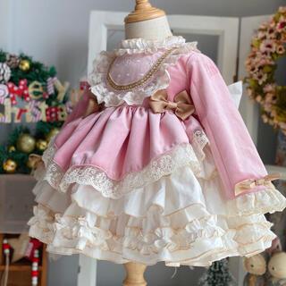 結婚式 発表会 美々ロリータ  ヨーロッパミミお姫様ドレスs(ウェディングドレス)