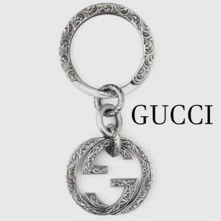 Gucci - GUCCI グッチ キーリング インターロッキングG シルバーキーチェーン