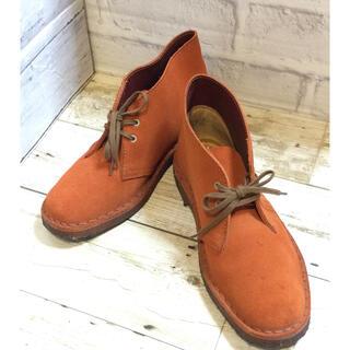 クラークス(Clarks)のクラークス レディースデザートブーツ  23cm オレンジ(ブーツ)
