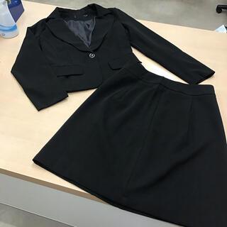 Sサイズ スカートスーツセットアップ 黒(スーツ)