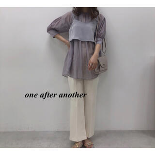 one after another NICE CLAUP - 新品 one after another ビスチェセットオーガンチュニック