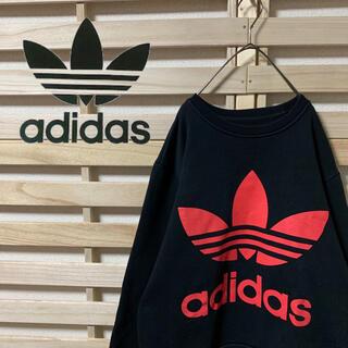 adidas - adidas originals★トレフォイル 両面デカロゴ スウェット