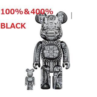 メディコムトイ(MEDICOM TOY)のBE@RBRICK H.R.GIGER 100% & 400% BLACK(その他)
