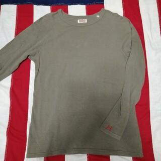 ハリウッドランチマーケット(HOLLYWOOD RANCH MARKET)のハリラン ストレッチフライス ベージュカーキ (Tシャツ/カットソー(七分/長袖))