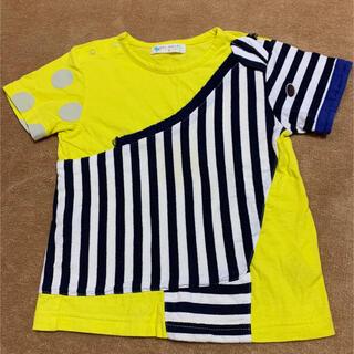 クレードスコープ(kladskap)のベイビーチアー しまうまTシャツ100cm☆匿名配送無料(Tシャツ/カットソー)