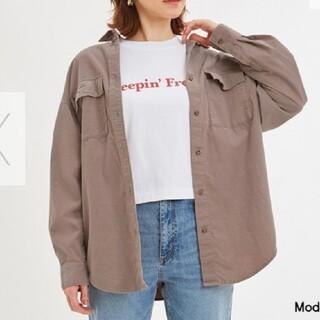 ジーユー(GU)のGU オーバーサイズコーデュロイシャツ(シャツ/ブラウス(長袖/七分))
