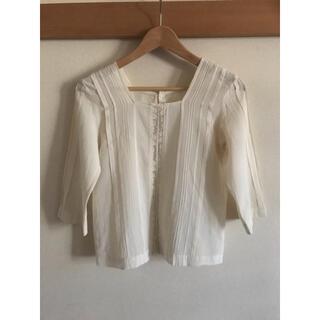 ドゥーズィエムクラス(DEUXIEME CLASSE)のドゥーズィエムクラス 日本製 綿100% プルオーバーシャツ オフホワイト(シャツ/ブラウス(長袖/七分))