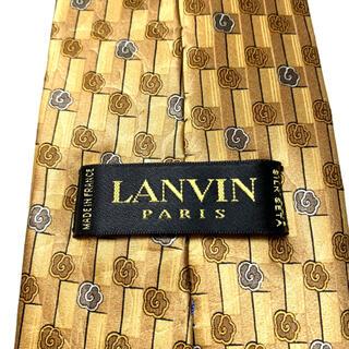 ランバン(LANVIN)のLANVIN ランバン 人気ブランド 高級シルク100% 総柄 オシャレ(ネクタイ)