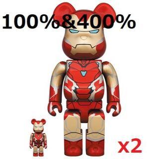 メディコムトイ(MEDICOM TOY)のBE@RBRICK IRON MAN MARK 85 100%&400% 2個(その他)
