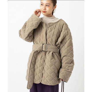 mystic - キルティングジャケットコート