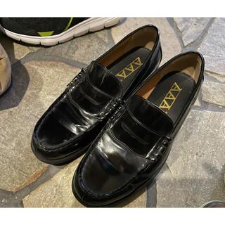 トリプルエー(AAA)の【箱付き】AAA+ ローファー 黒 27cm(ローファー/革靴)