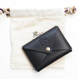 イルビゾンテ(IL BISONTE)の新品 イルビゾンテ カードケース ブラック オリガミ 名刺入れ コインケース 黒(名刺入れ/定期入れ)