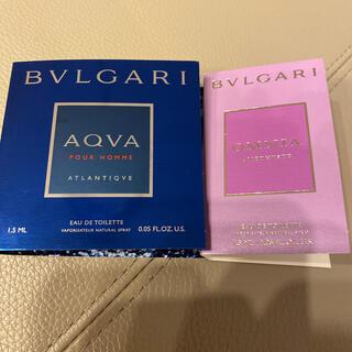 ブルガリ(BVLGARI)のブルガリ☆香水サンプル2点セット☆未使用(香水(女性用))