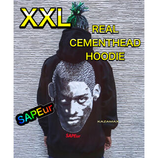 SAPEur REAL CEMENT HEADS サプール  XXL ブラック(パーカー)