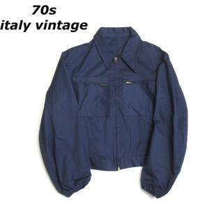 アートヴィンテージ(ART VINTAGE)の【SALE】70s italy vintage ジップワークジャケット ブルゾン(ブルゾン)