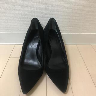 ツルバイマリコオイカワ(TSURU by Mariko Oikawa)のツルバイマリコオイカワ  スエード  黒 ブラック 24.5(ハイヒール/パンプス)