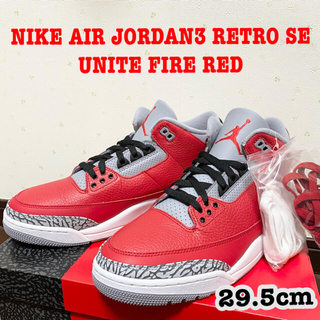 ナイキ(NIKE)のNIKE AIR JORDAN3 RETRO SE UNITE FIRE RED(スニーカー)