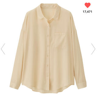 ジーユー(GU)のgu シアーオーバーサイズシャツ(シャツ/ブラウス(長袖/七分))