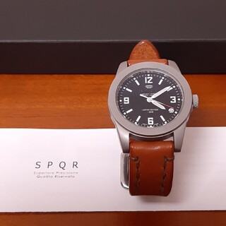 セイコー(SEIKO)のSPQR 腕時計 男女兼用ソメスレザー(腕時計(アナログ))