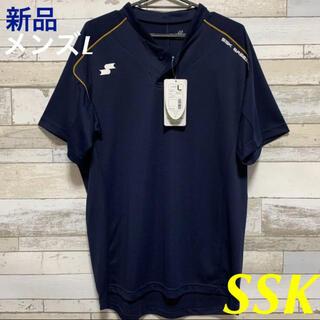 エスエスケイ(SSK)のSSKエスエスケイ 野球ベースボール2ボタン半袖Tシャツ メンズL 新品(ウェア)