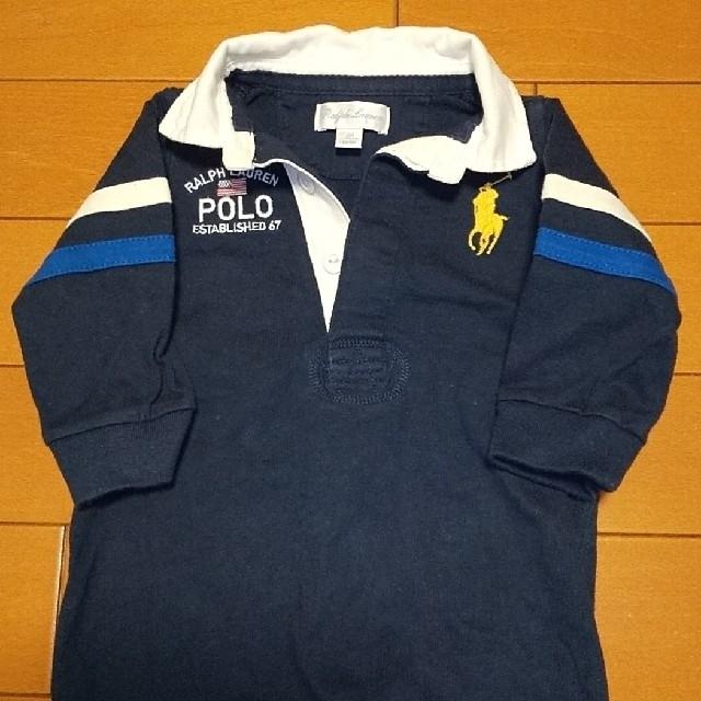 Ralph Lauren(ラルフローレン)のラルフローレン 長袖ロンパース カバーオール 2枚セット キッズ/ベビー/マタニティのベビー服(~85cm)(ロンパース)の商品写真