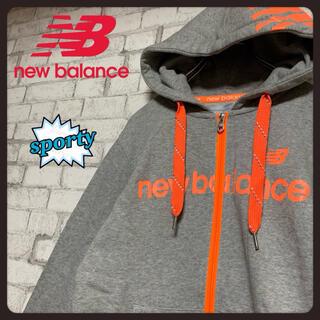 New Balance - 【レアグラフィック】new balance ニューバランス/ジップアップパーカー
